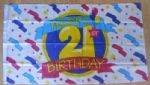 Happy 21st Birthday Large Flag - 5' x 3'.